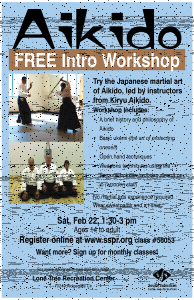 Aikido Workshop posterLTRC
