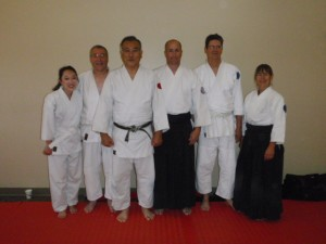 Kiryu Aikido with Izawa Sensei following the tests.