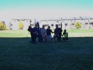 Les, Charles, Kara, Dave, and Katie wrap up a great Koen Club.