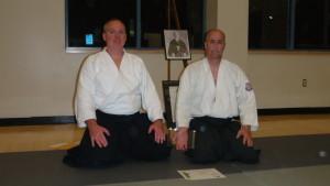 Andrew Blevins Sensei and Les Steveson Sensei, Kiryu Aikido.