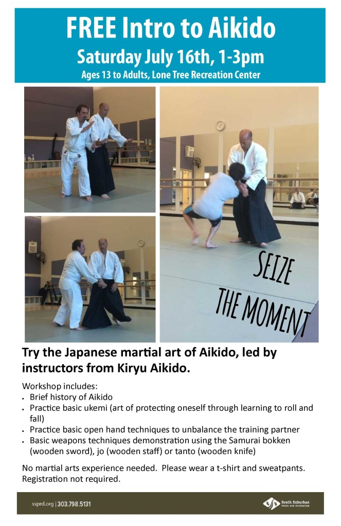 Intro to Aikido Workshop July 16, 2016